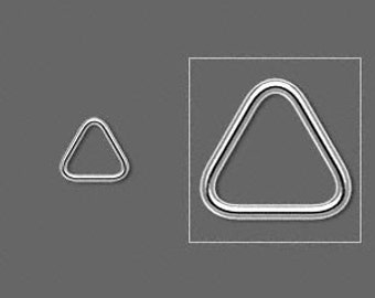 Sterling Silver CLOSED 7,5mm Triangle Jumpring pk 10