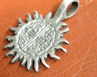 ZincRich Pewter Sun with Celtic Knots - 42x13mm