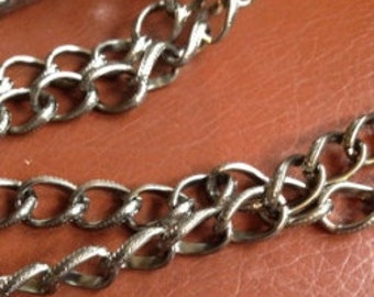 Aluminum Gunmetal Twisted Oval Cable Chain (5 ft)