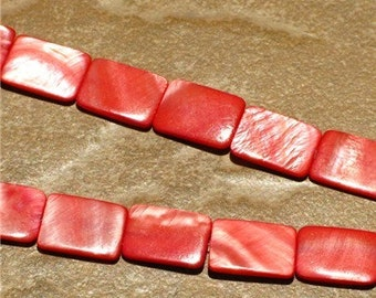 Red - Mother of Pearl Rectangles (16 inches)
