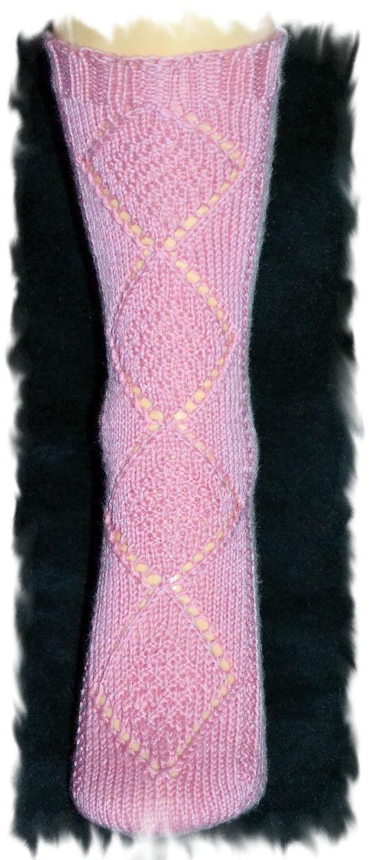 Diamond Panel Toe Up Sock Pattern