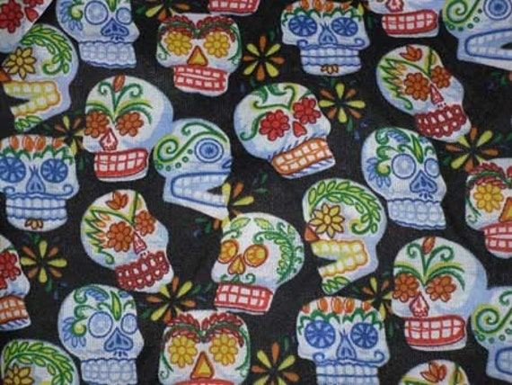 Day of the Dead - Cotton Fabric - Sugar Skulls