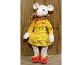 Amigurumi Cherry the mouse crochet pattern, digital pattern