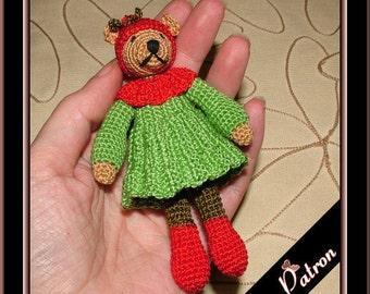 Pattern amigurumi christmas elf bear Govriane, digital pattern