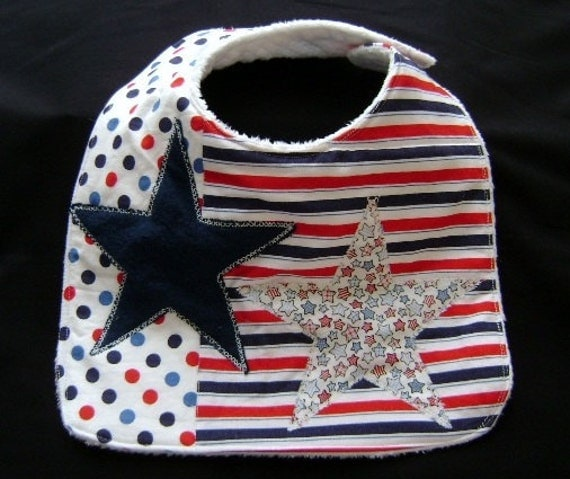 Bib - Stars,  Stripes,  Dots