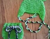 Newborn Baby Frog Hat Diaper Cover Set