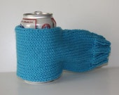 Handknit Beer Muff Koozie - single color