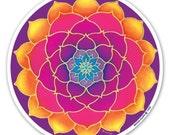 Golden Lotus - a Window Sticker