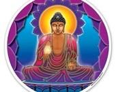 Buddha Light - a Window Sticker