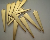 12 flat brass triangle/spike drops/stamping blanks