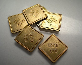 6 Dead End traffic sign charms