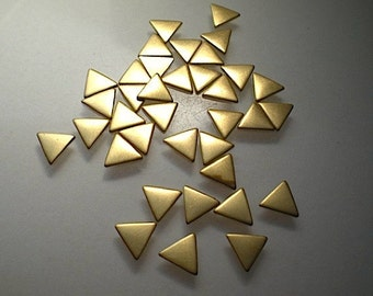 36 tiny flat brass triangle charms/stamping blanks, 1/4""