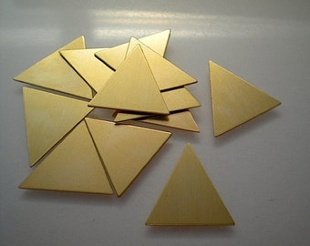 12 isosceles triangle stamping blanks