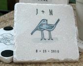 Love Bird Wedding Favor Coasters, Set of 50