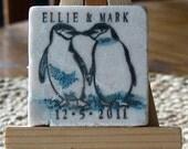 Penguin Wedding Favor Magnets, Save the Date Magnets, Set of 50