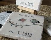 Tweet His and Her Birdie Wedding Favor Coasters, Set of 50