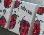 Make a Wish Lucky Ladybug Magnets, Set of 3