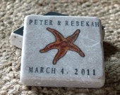 Tropical Starfish Save the Date Magnets - Personalized Beach Wedding Favors - Set of 25