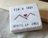 Heart Mountain Save the Date Magnets, Wedding Favors, Set of 30