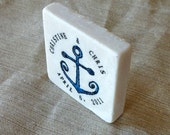 Nautical Anchor Save the Date Magnets, Wedding Favors, Set of 20