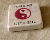Personalized Yin and Yang Wedding Favor Magnets - Save the Date Magnets -  Set of 25