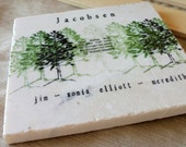 Kitchen Trivet - Personalized Pine Tree - Northwoods Home Decor - Rustic Housewarming