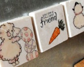 24 Carrot Friend Easter Magnets, Set of 3