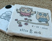 Opal and Oliver the Owl Tile Coasters, Set of 4