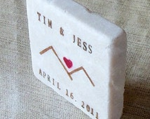 Heart Mountain Save the Date Magnets, Wedding Favors, Set of 20