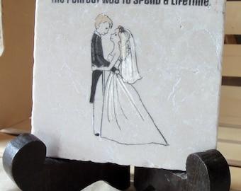 Wedding Keepsake Tile Trivet - Ready to Ship