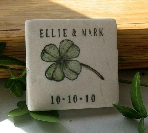 Personalized Irish Wedding Favors Shamrock Save By MyLittleChick