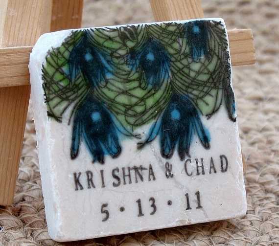 Peacock Wedding Gifts: Personalized Peacock Wedding Favors Peacock By MyLittleChick