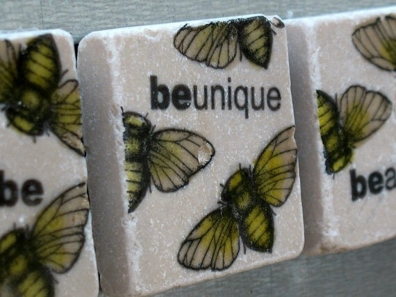 Just Be Bumblebee Tile Magnets, Set of 4