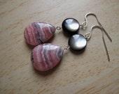 SVETA Rhodochrosite Shell Earrings Valentine