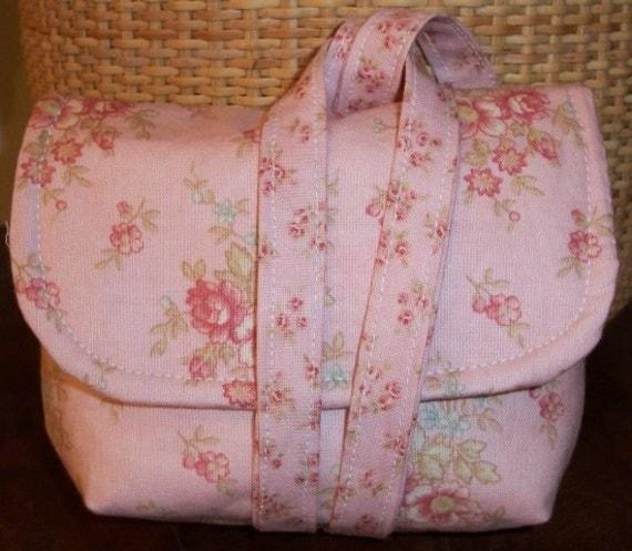 Dusty Pink Floral Camera Case Wristlet