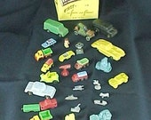 BIG Vintage Toy Cars Trucks Misc Plastic Lot 30pcs Metal Wood Rubber Fun Crafts All OLD Corvette