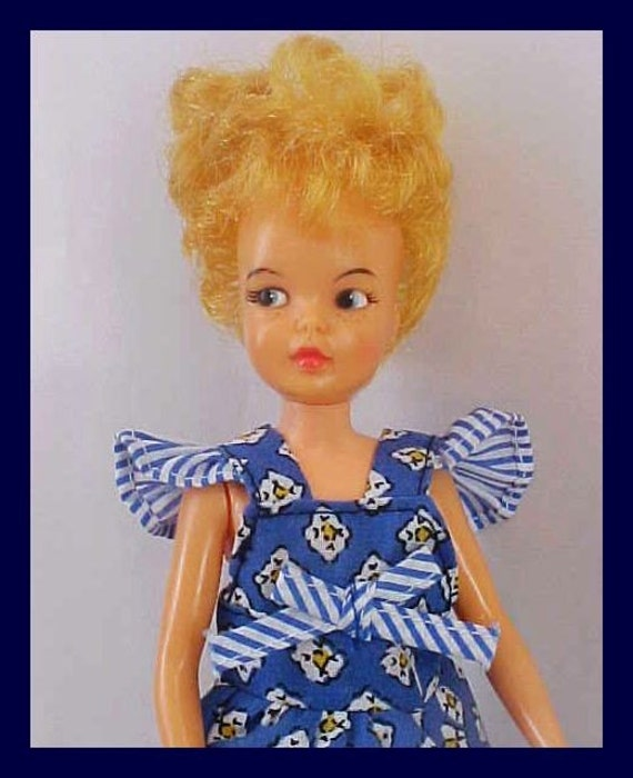 Pepper Doll Vintage 1960's Ideal, Tammy's Little Sister, Strawberry Blonde Hair, Cute
