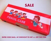 Vintage 80's Magnetic Double sided Pencil Case Box 1980's