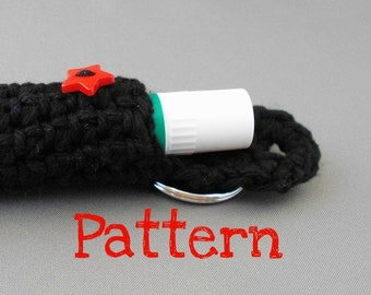 Crochet Pattern - Keychain Lip Balm Holder