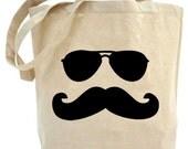 Eco Friendly..Moustache Man tote bag