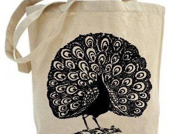 Dancing Peacock - Eco Friendly Tote Bag