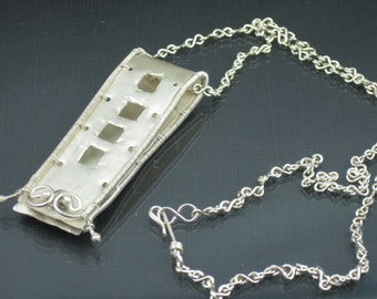 Sterling Silver Necklace Art Jewelry Necklace