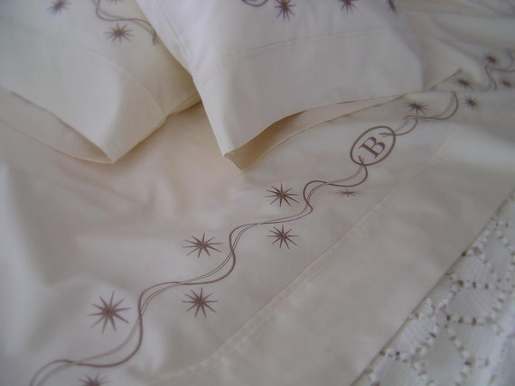 embroidered sheets bedding pillowcases pillow shams custom design any color