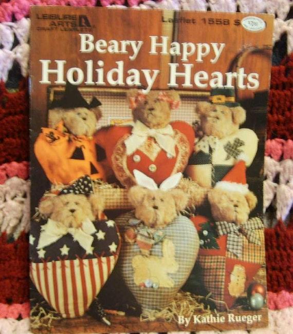 Beary Happy Holiday Hearts