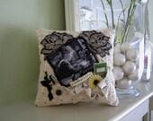 Decorative Pillow for Mom - Seamstress Pillow - Battenburg Lace Pillow