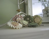 Paper Flower Embellishments - Pleated Paper Medallions for Scrapbooking