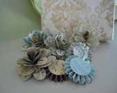 Paper Flowers - Decorative Craft Flowers - Paper Medallions