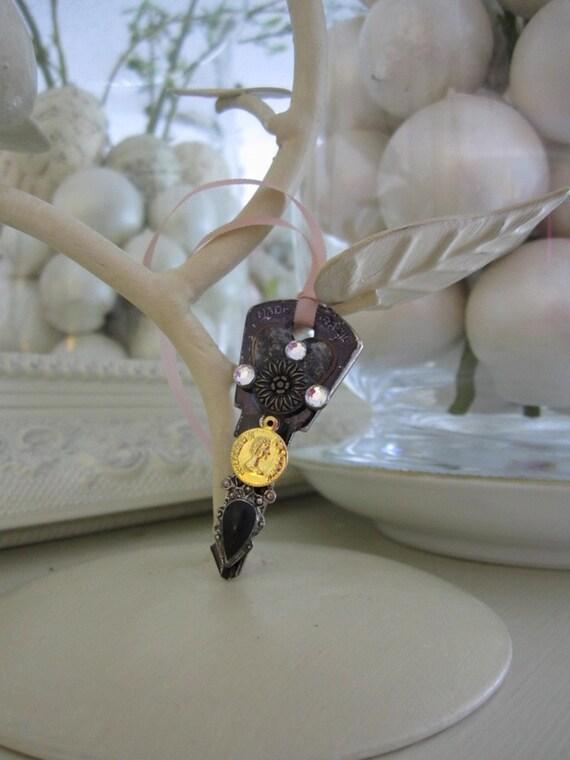 Altered Key Embellishment - Decorative Key - Vintage Style Key Charm