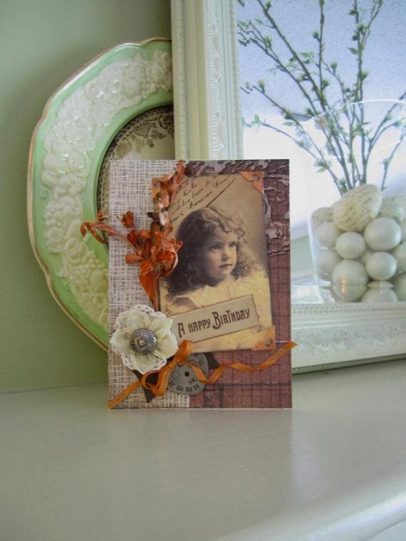 Happy Birthday Card - Vintage Style Birthday Card
