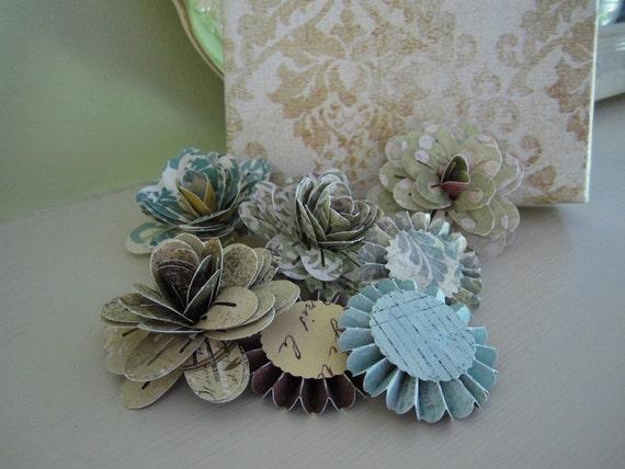 Paper Flowers - Decorative Craft Flowers - Paper Medallions